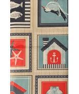 Coastal Patchwork Vinyl Flannel Tablecloth 52 x 90 Oblong Beach House St... - $19.79