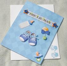Handmade Baby Boy Stroller Greeting Card - The Lil Man - $6.25