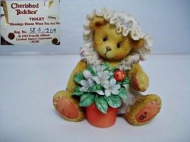 Cherished Teddies Violet Figurine - $9.99