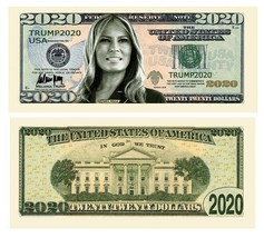 5 Trump 2020 Melania Dollar Bills Presidential First Lady Money Note Lot - $4.95