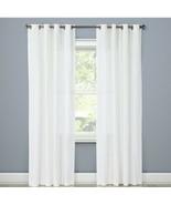 "Threshold Natural White Curtain, 100% Cotton (54""x95"") One Panel - $25.00"