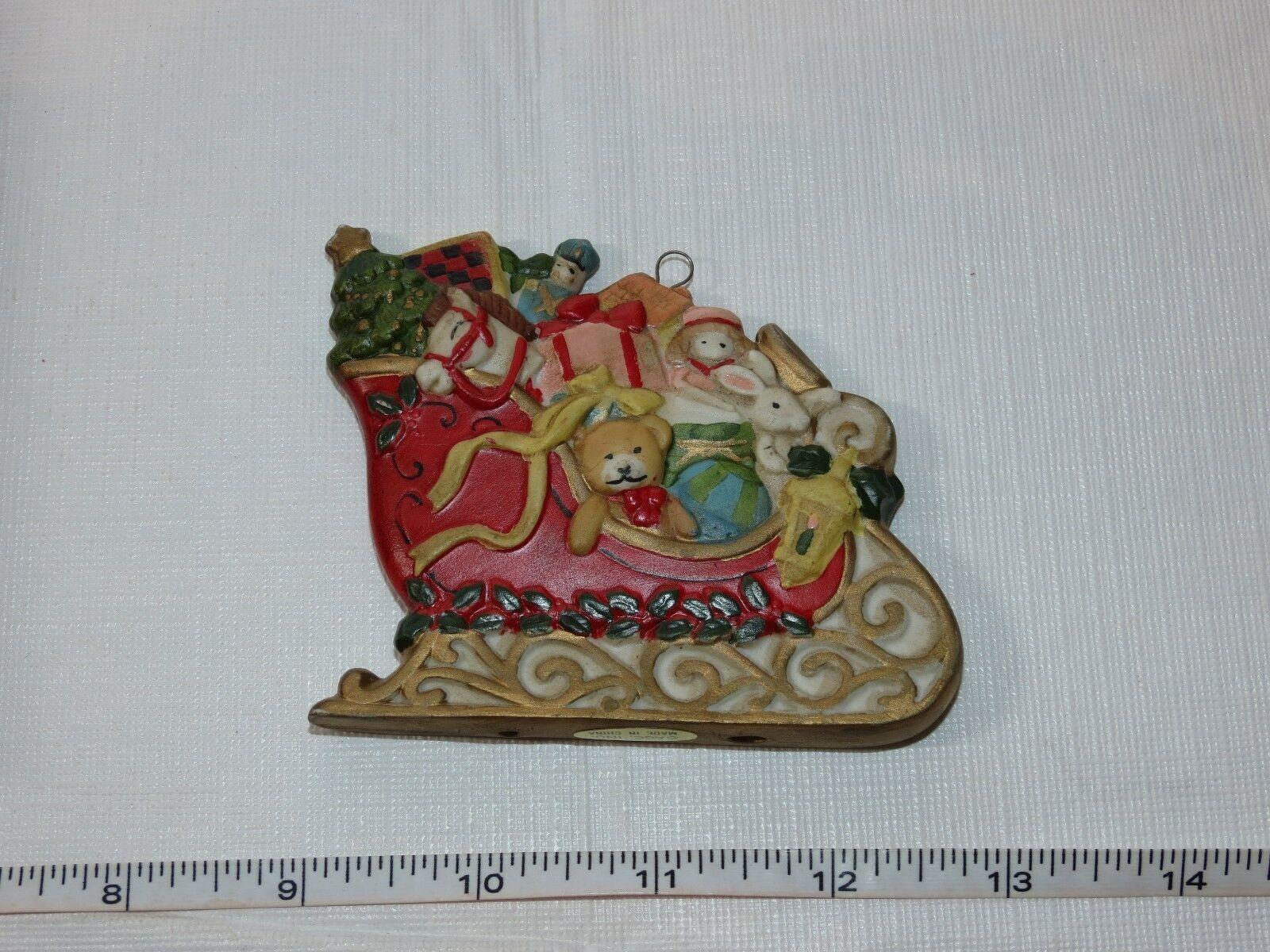 Carlton Cards Heirloom Collection A Sleighful of Joys Christmas Ornament