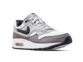 Nike Air Max 1 (GS) White Black Wolf Grey Gunsmoke Kids Running Shoes 807602 108 image 3