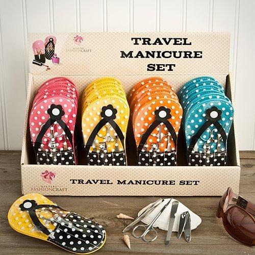 Adorable flip flop design manicure sets - 24 count