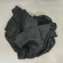 NEW/AUTH GUCCI 165904 GG Guccissima Scarf Muffler, Anthracite - $469.00