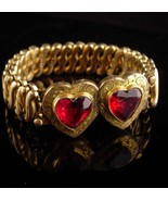 Antique heart Bracelet - sweetheart jewelry - expansion cuff - victorian... - $85.00