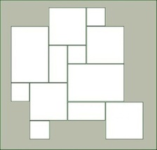 "Thick Concrete Driveway Paver Molds (6) 6x6x3"" Make 100s of Opus Romano Pavers image 5"