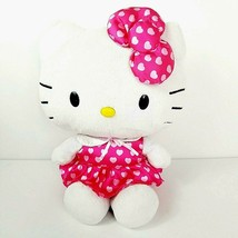 Hello Kitty Sanrio Large Plush Toy 20 Inch Pink Valentines Day Heart Dress Bow - $23.20