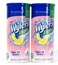 2 Wyler's 3.09 Oz Light Pink Lemonade 6 Pitcher Packets Low Calorie Drin... - $16.99