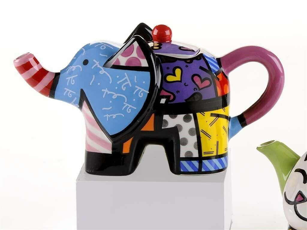 Romero Britto Mini Teapot Elephant #331825 Rare Retired Collectible Gift