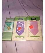 New Old Stock Lot of 3 Vintage Blanket Binding Satin Talon Tapes Wrights... - $9.49