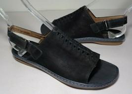 Clarks Size 6 M SARLA FORTE Black Nubuck Leather Sandals New Women's Shoes - $98.01