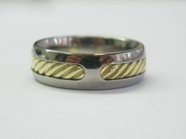 David Yurman 18Kt & Ss Draht Ring Größe 9 7.3mm - $515.43
