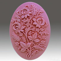 Ferns and Flowers - Detail of high relief sculpture,silicone mold, soap ... - $22.65