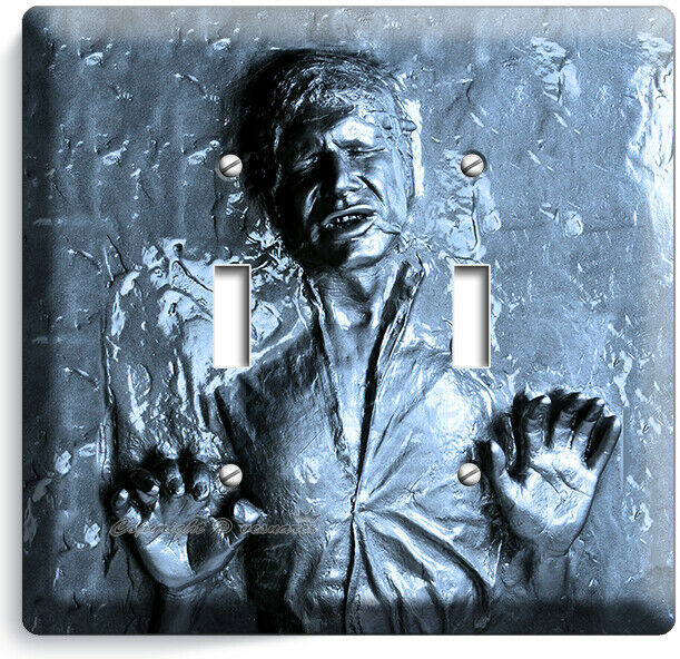 HAN SOLO FROZEN IN CARBONITE STAR WARS 2 GANG LIGHT SWITCH WALL PLATE ROOM DECOR