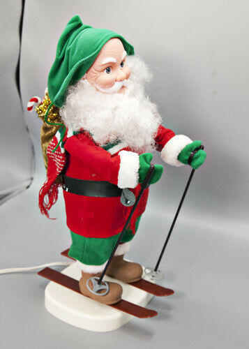 "Primary image for Santa's Best 20"" Skiing Santa Motion Figure VIDEO 1994 Animated Motionette"
