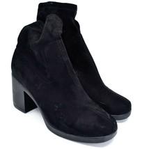 Boohoo Black Velvet Heel Boots UK 8  |EUR 41 | US10