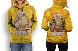 hoodie women zipper just saiyan Dragon ball - $48.99+
