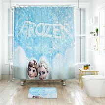 Cartoon 02 Shower Curtain Waterproof Polyester Fabric & Bath Mat For Bathroom - $16.30+