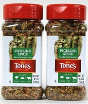 2 Count Tone's 4.5 Oz Pickling Spice Seasoning Blend For Veggies Fish Beef - $18.99