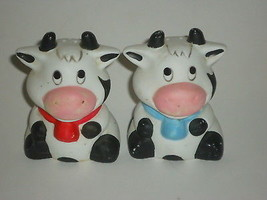BLACK & WHITE COW SALT AND PEPPER SHAKERS - $5.99