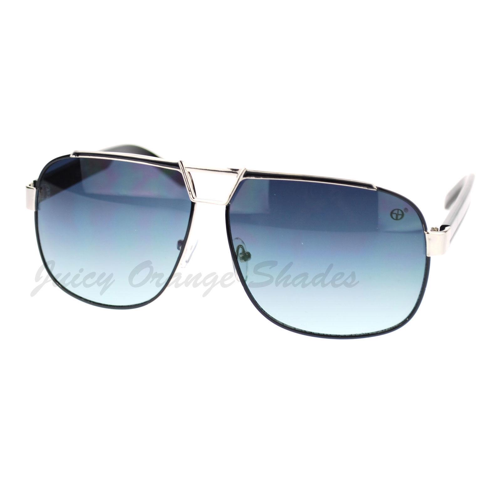 Designer Navigator Sunglasses Unisex Fashion Square Aviators