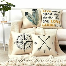 """DECORATIVE THROW PILLOW COVERS 18X18"""" SET OF 4 COT OF SIMPLE DECOR 18 X - $23.66"""