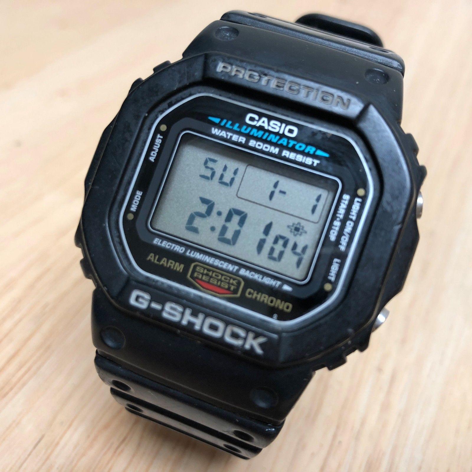 Casio G Shock Dw 5600e Men 200m Lcd Digital And 50 Similar Items 9052 2v Alarm Chrono Watch Hoursnew Battery