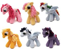 Little Pony Handmade Amigurumi Stuffed Toy Knit Crochet Doll VAC - $36.99