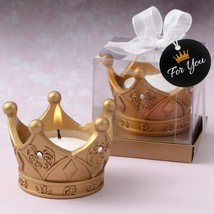 Royal gold Crown tea light candle from fashioncraft  - $4.99