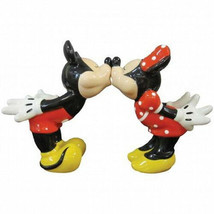 Disney's Mickey & Minnie Kissing Ceramic Salt and Pepper Shakers Set NEW... - $38.69