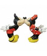Disney's Mickey & Minnie Kissing Ceramic Salt and Pepper Shakers Set NEW... - $33.85