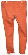 Rue 21 Women's Tomato Red Orange Mid-Rise Skinny Jeans Size 11/12 image 2