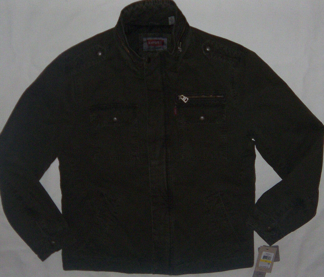 Primary image for New Men's Levi's Milatary 5 Pocket Lined Cotton Jacket Size M Olive MSRP $180