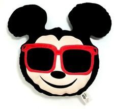 Disney Mickey Mouse Being Smooth Wearing Sunglasses Emoji Plush Pillow - $12.99