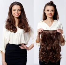 Women's hairpiece clip five clip roll extensions thickened (long60cm)  D... - $20.66