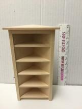Miniature 5 Shelf Corner BOOKCASE UNIT Dollhouse Furniture Scale 1:12 / unfinish image 1