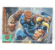 1994 X-Men Wolverine Vs The Thing Fleer Ultra Base Trading Card #141 - $1.76