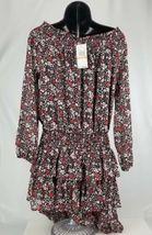 $155 Michael Kors Women's Ballet Off Shoulder Dress Floral Size  P/S image 3