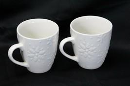"""Snowflakes by Thomson Mugs Large 4"""" Lot of 6 image 2"""