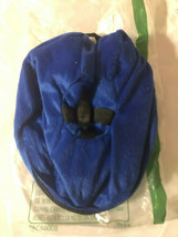 INFLATABLE NECK PILLOW SIZE SMALL REMOVABLE COVER BLUE NEW - £3.92 GBP