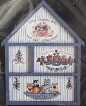"Bucilla Counted Cross Stitch Good Friends Hutch 40310 Lynn Waters Busa 9x12"" - $19.76"