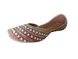 Women Shoes Designer Wedding Indian Jutties Flip-Flops Handmade Mojari US 5-9.5 - £32.35 GBP