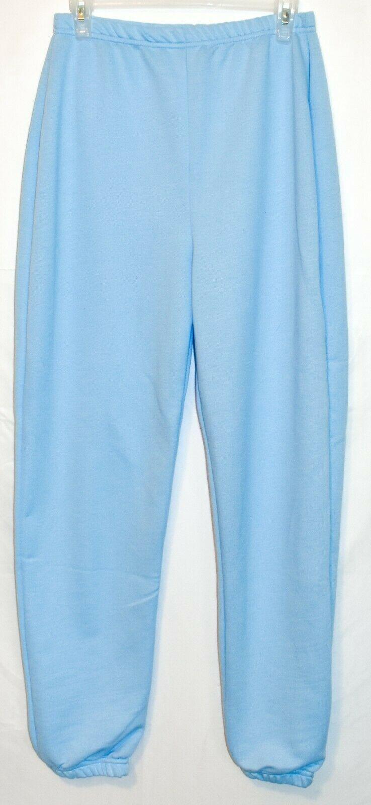 Pretty Little Thing Women's Light Blue Oversized Basic Cuff Joggers Pants Size 6