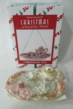 Christmas Tea Vintage House of Lloyd Resin Hand Painted Ornament New Old... - $25.00