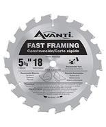 Avanti 5-3/8 in. x 18 Tooth Fast-Framing Circular Saw Blade - $7.52
