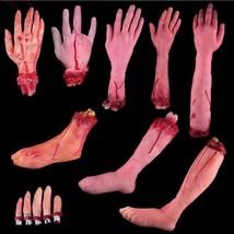 Hallowen Broken Finger Hand Foot Blood Horror Novelty Party Props - $4.49+
