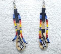 Native American Hand Made Dangle Beaded Ballsti... - $27.99