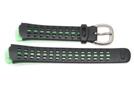 NIKE TRIAX SPEED 100 REGULAR BLACK GREEN WOMENS RUBBER WATCH BAND - $14.84