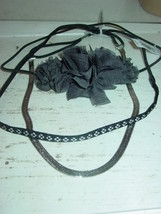 American Eagle Outfitters lot 3 headbands black silver gray flowers-NWT-... - $12.16